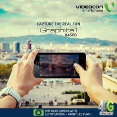 #Videocon Graphite1 V45ED comes with 5MP Rear with Auto Focus which enables you to capture amazing moments anywhere you go. Explore - http://www.videoconmobiles.com/graphite1v45ed