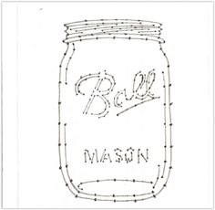 Ball Mason Jar Nail Template For String Art You Can Resize This To