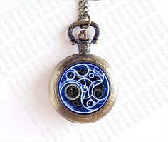 Doctor Who Time Lord Seal Pocket Watch Doctor Who by ChainLab, $10.00