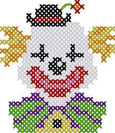 Clown perler bead pattern