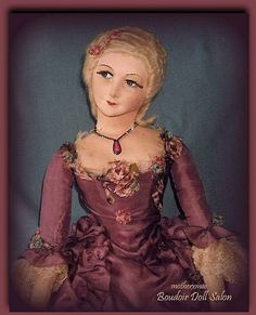 court lady boudoir doll ribbonwork