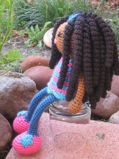 CROCHET PATTERN  African Curly Haired Doll Plush by LeenGreenBean, $6.50
