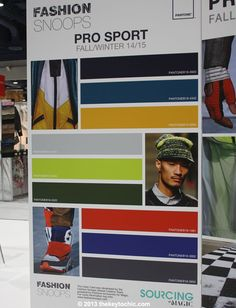 """Fashion Snoops color trend forecast """"Pro Sport"""""""