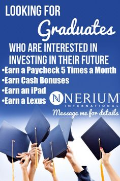 Help wanted! No experience needed. Be your own boss with your #global #nerium business! #grads #graduate #college www.skincarescience.nerium.com
