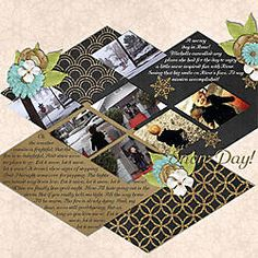 Snow Day! Kit: Glam Christmas by Queen Wild Scraps & Leaving a Legacy Designs Template: Week by Week Vol 1 by Queen Wild Scraps