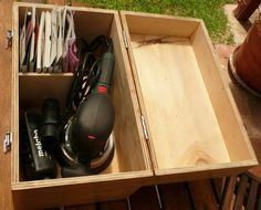 Custom boxes for power tools.