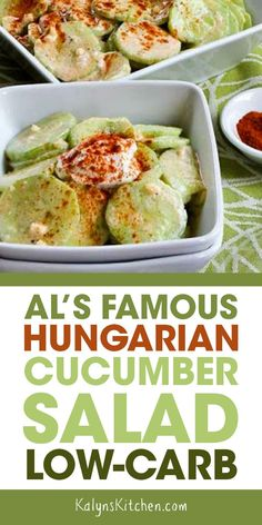 Al's Famous Hungarian Cucumber Salad This Hungarian Cucumber Salad just might become your favorite way to eat cucumbers. Best Salad Recipes, Cucumber Recipes, Salad Dressing Recipes, Vegetable Recipes, Diet Recipes, Cooking Recipes, Healthy Recipes, Cucumber Juice, Smoothie Recipes