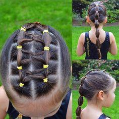 Beautiful Hairstyles Elastic gymnastic Hair