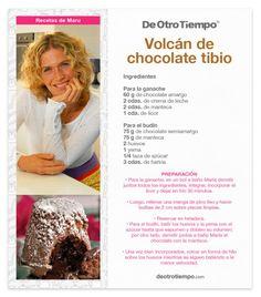 Volcán de chocolate de Maru botana