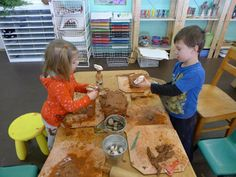 """Clay play at 'Discovery Early Learning Center' ("""",)"""