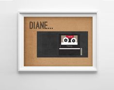 Diane Do you have a Diane in your life? Enjoy this Twin Peaks inspired art print and keep in touch with Diane.    Specs: 5 x 7 inches. Printed on