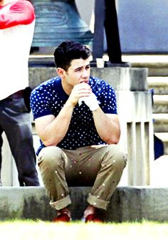 27287858747 Nick Jonas on the set of Scream Queens. 30 March