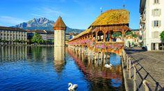 Lucerna y su puente más famoso