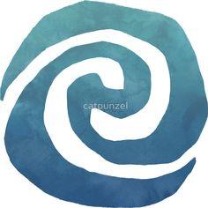 Watercolor Moana Swirl by catpunzel