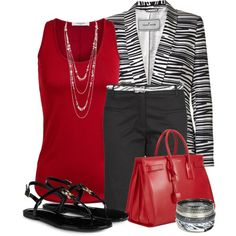Zebra Blazer for Summer, created by justbeccuz on Polyvore