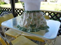 Little Girl's Bunny Rabbit Skirt with Gingham Ruffle  free size