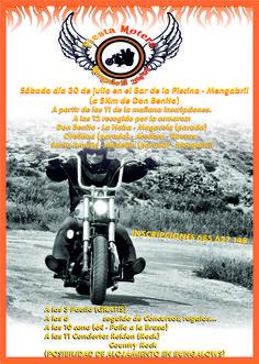 Cartaz publicitário de Fiesta Motera.