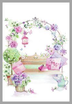 flowery seat.