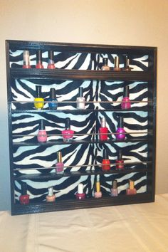 Nail polish rack<3<3 and that's about the amount of nail polish I own haha