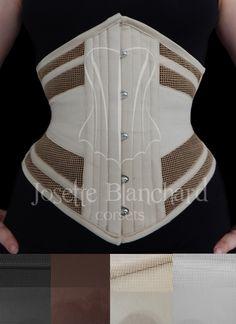 Ref.: WC 009 Valor: Corset waist-cincher em tela 100% algodão bege e sarja 100% algodão bege, faixas internas e fechamento frontal por busk . Site: http://www.josetteblanchardcorsets.com/ Facebook: https://www.facebook.com/JosetteBlanchardCorsets/ Email: josetteblanchardcorsets@gmail.com josetteblanchardcorsets@hotmail.com