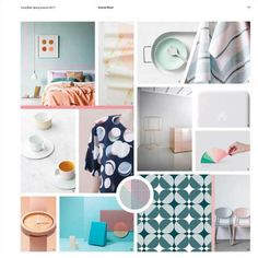 #2017trends #SS17 #SpringSUmmer2017 | colourful moodboard inspiration for a more beautiful ss2017 | @meccinteriors | design bites