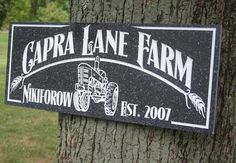 Family Farm Sign Personalized Name Sign by BenchMarkCustomSigns