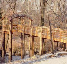 pavilion in the trees, fairmount park, philadelphia, martin puryear, 1993.