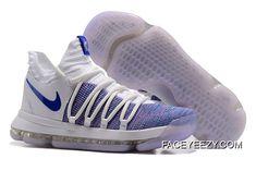 c1374678f12 Best Nike KD 10 White Blue