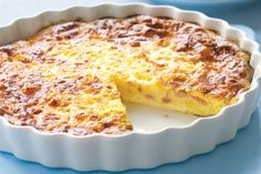 A beautiful golden brown ham and cheese quiche that will delight the whole family.