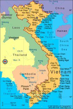 Vietnam - The map http://viaggi.asiatica.com/