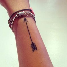 arrow tattoo   side of wrist   pretty design