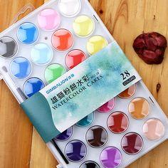 36 Colors Professional Watercolor Cakes Solid Watercolor Paint Set