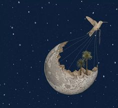 by Gabriella Barouch. Graphic Design Illustration, Illustration Art, Hole In The Sky, Moon Pictures, Moon Pics, Stay Wild Moon Child, Moon Magic, Beautiful Moon, Sky And Clouds