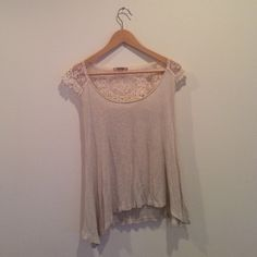 Lace Cream Tank Size M Worn it a lot. Such a pretty back piece. Good condition! Timing Tops Tees - Short Sleeve