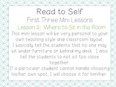 School Is a Happy Place: The Daily Five: The Big Three (Mini Lessons to Launch Read to Self and a FREEBIE) Grade 2, Third Grade, Daily 5 Rotation, Read To Self, Daily Five, Balanced Literacy, First Grade Teachers, Big Three, Teacher Blogs