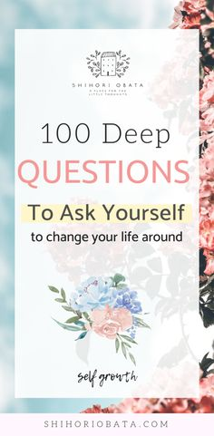 100 Questions to Ask Yourself for Self Growth: Deep questions we need to ask ourselves to bring about change in our life. Use these questions in your journal prompts daily // Journal Prompts, self growth, questions to ask y - 100 Questions To Ask, Life Questions, This Or That Questions, Personal Questions, Deep Questions About Love, Interesting Questions To Ask, Vie Motivation, Journal Questions, Journal Writing Prompts