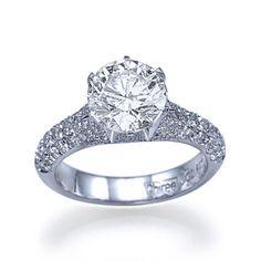 New to shireeodiz on Etsy: Diamond Ring 2.33 TCW Diamond Engagement Ring 950 Platinum Ring Size 7 Pomegranate Collection (6450.00 USD)