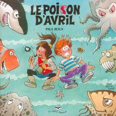 Le poison d'avril, Paul Roux (album bd)-En visite à l'aquarium, Ernest et Émilie font une découverte stupéfiante : dans une salle, à l'abri des regards indiscrets, se trouvent des dizaines de monstres marins, aussi horriblesqu'inquiétants. Sont-ils les victimes d'un savant fou ? Les fruits d'affreuses manipulations génétiques ? Ernest et Émilie résoudront-ils le mystère du poison d'avril ? Un album qui aborde avec humour et intelligence les préoccupations écologiques.
