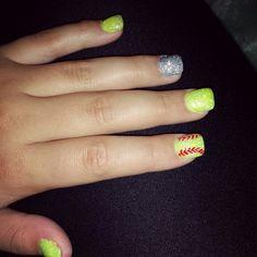 Softball nails ♡