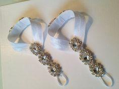 Lola   Barefoot Sandals  Foot Jewelry  Wedding by StellasDesign, $38.00