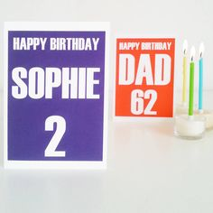 Personalised Special Age 'Name' Birthday Card by Weasel and Stoat, the perfect gift for Explore more unique gifts in our curated marketplace. Happy Birthday Dad, Special Birthday, Birthday Cards, Unique Cards, Unique Gifts, Paper Envelopes, Purple Yellow, Corporate Gifts, Names