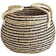 Palm Leaf Basket- love the flexible bag/baskets....great for magazines
