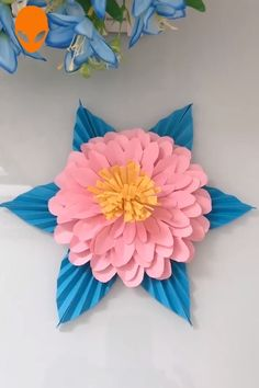paper crafts flowers penguins crafts christmas scrapbook easy paper flower paper quiling Basteln/All Paper Flower Patterns, Paper Flower Decor, Paper Flowers Craft, Paper Crafts Origami, Paper Flower Tutorial, Giant Paper Flowers, Paper Crafts For Kids, Paper Roses, Paper Decorations