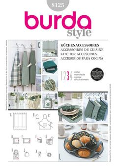 Find Burda Style, Kitchen Accessories at Simplicity, plus many more unique crafts & crafts projects, supplies, tools & more. Burda Patterns, Simplicity Sewing Patterns, Style Patterns, Maternity Patterns, Kitchen Styling, Kitchen Accessories, Household Items, Sewing Crafts, Sewing Diy
