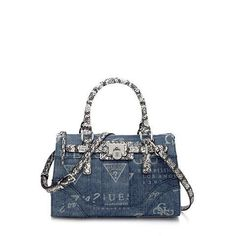 GUESS Tas Greyson Small Satchel online kopen, denim is trendy!