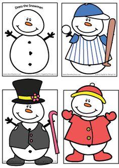 Snowman Printable - Dress the Snowman Activity Sheet