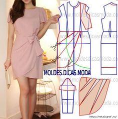 4294 Personalized Dress Pattern PDF sewing pattern by TipT Fashion Sewing, Diy Fashion, Ideias Fashion, Fashion Dresses, Fashion Black, Fashion Ideas, Vintage Fashion, Fashion Tips, Diy Clothing