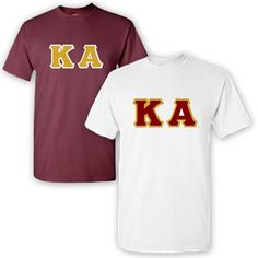 Kappa Alpha Fraternity 2 T-Shirt Pack - Gildan 5000 - TWILL