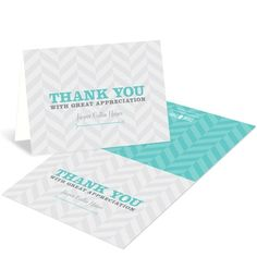 Adoption Thank You Cards -- Trendy Chevron Stripes | Pear Tree Greetings