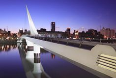 The Woman's Bridge in Puerto Madero - Buenos Aires, Argentina